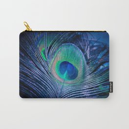 Peacock Feather Blush Carry-All Pouch