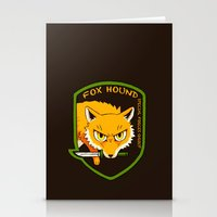metal gear Stationery Cards featuring Metal Gear Solid - Chibi Foxhound by feriowind