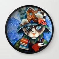 elvis Wall Clocks featuring Elvis by oxana zaika