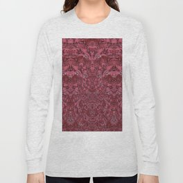 Deep Coral Terracotta Dimensional Pattern Long Sleeve T-shirt