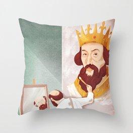 Ego (king) Throw Pillow