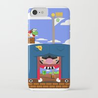 mario iPhone & iPod Cases featuring Mario by Ryan Miller