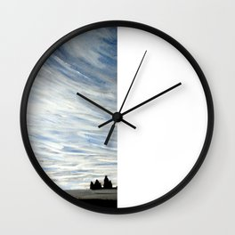 Vic Iceland Watercolour by Emily Hunter-Higgins Wall Clock