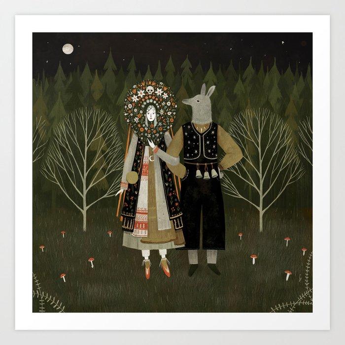 Svatba (the wedding) Kunstdrucke