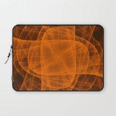Eternal Rounded Cross in Orange Brown Laptop Sleeve