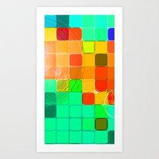 Concentric Squares Art Print