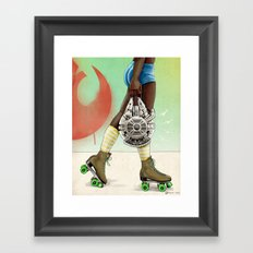 Skate Wars - Rebel Alliance Framed Art Print