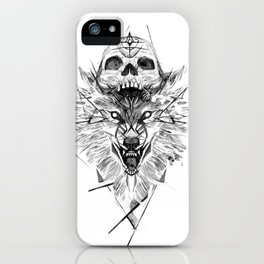 Wolf And Skull iPhone Case