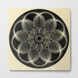 Antique Spiral Geometry Metal Print