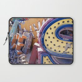Broken Down Signs, Lights, and Colours in Las Vegas 03 Laptop Sleeve