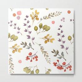 Fall florals pattern Metal Print