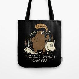 worlds worst camper Tote Bag