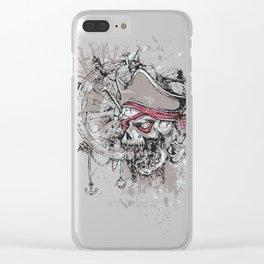 Skull Pirate - arrr, matey! Clear iPhone Case