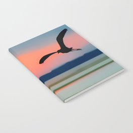 Seagull Sunset Abstract Notebook