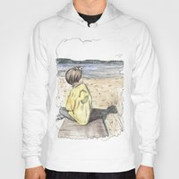 cape cod Hoodies featuring Cape Cod by Katerina Skassi
