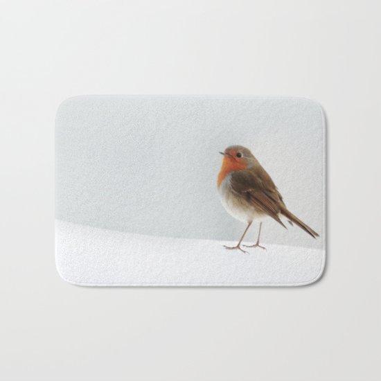 Robin into the Snow Bath Mat
