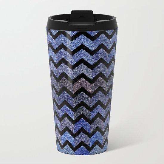 Glitter Chevron Metal Travel Mug