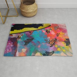 Lady Liberty Butterfly Explosion Rug