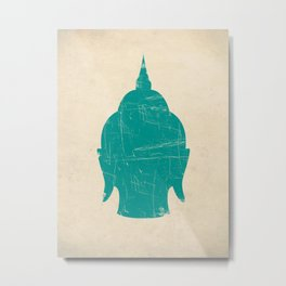 Buddha Head Art Print Metal Print