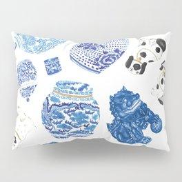 Chinoiserie Curiosity Cabinet Toss 2 Pillow Sham