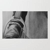 heels Area & Throw Rugs featuring Heels Down by JMck Artwork