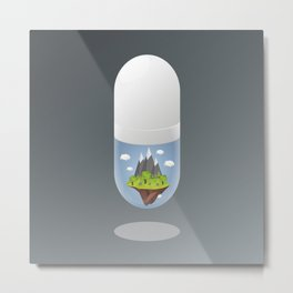 The Bittersweet Pill I Metal Print