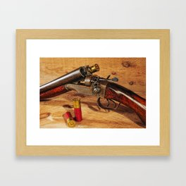 Old Double Barrel Stevens Framed Art Print