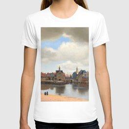 """Johannes Vermeer """"View of Delft"""" T-shirt"""