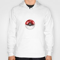 pokeball Hoodies featuring POKEBALL by Graphic Craft