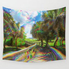 Trippy Walkway Wall Tapestry