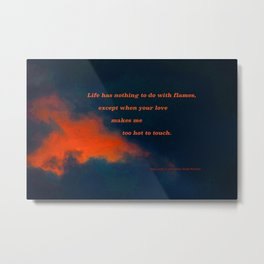 Sunset Cloud #74 with poem: Nothing Except Metal Print
