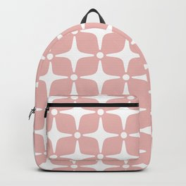 Mid Century Modern Star Pattern Dusty Rose 2 Backpack