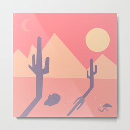Vintage Desert Cutout Metal Print