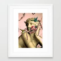 swag Framed Art Prints featuring SWAG by Julia Lillard Art