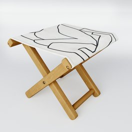 Abstract line art 2 Folding Stool