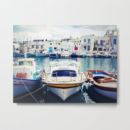 Fishing Boats in Greece Metal Print