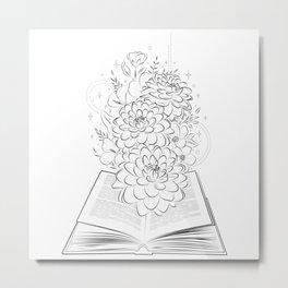 Life's book story blooming  Metal Print