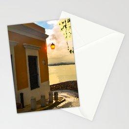 Sun street,in old San Juan,Puerto Rico Stationery Cards