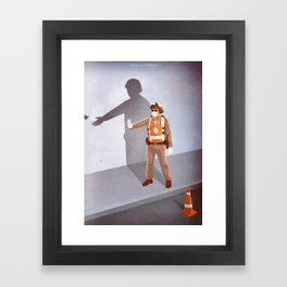 Mandatory Tipping (The Checkpoint) Framed Art Print