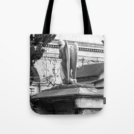 ancient angel on the memorial Tote Bag