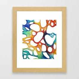 Sea's bubbles 3 Framed Art Print