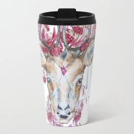 Watercolor Reindeer Travel Mug