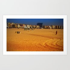 LONG WAY TO THE BEACH Art Print