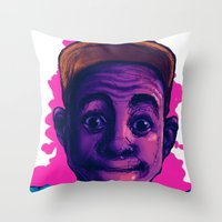 tyler the creator Throw Pillows featuring Tyler The Creator II (Pink) by ASHUR Collective™