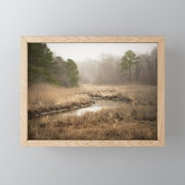 Misty Morning in the Wetlands Framed Mini Art Print