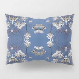 Star-filled sky (Star Magnolia flowers!) - diamond repeating pattern Pillow Sham