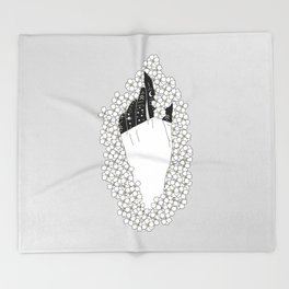 Yarrow - Floral Hand Illustration Throw Blanket