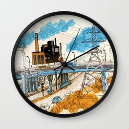 Power lines in Toronto Wall Clock