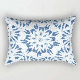 Snowflake Denim & White Rectangular Pillow