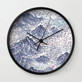 Distant View - 遠望 series -Linocut Wall Clock